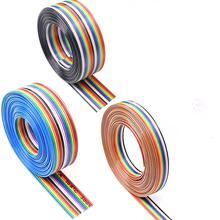 rainbow cable,80C 300V pvc insulation wire flat ribbon cable,ul2468 24awg flat cable