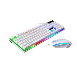 On Stock Cheap High DPI LED light game mouse and keyboard set, gaming keyboard mouse set