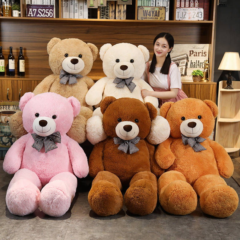 Big Size 120cm 140 cm Teddy Bear with Bowknot Plush Toy Home Decoration Soft Toy