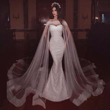 Latest Sweetheart Long Style Mermaid Wedding Dress Bride Gown