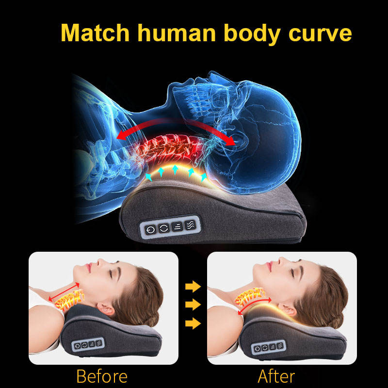 Electric Massage Pillow Massage Pillow Back Shoulder Neck Electric Massage Pillow Massage Machine Full Body