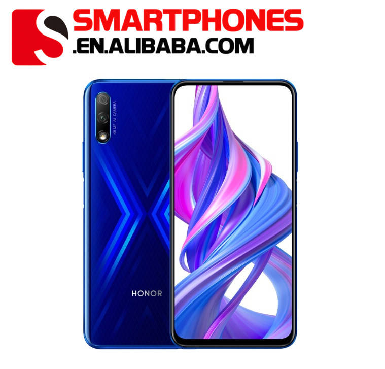 Global ROM Huawei Honor 9X4 GB RAM 64GB ROM Ponsel Kirin 810 Octa Core 6.59 Inch android 9.0 Mengangkat Kamera 48.0MP 4000 MAh