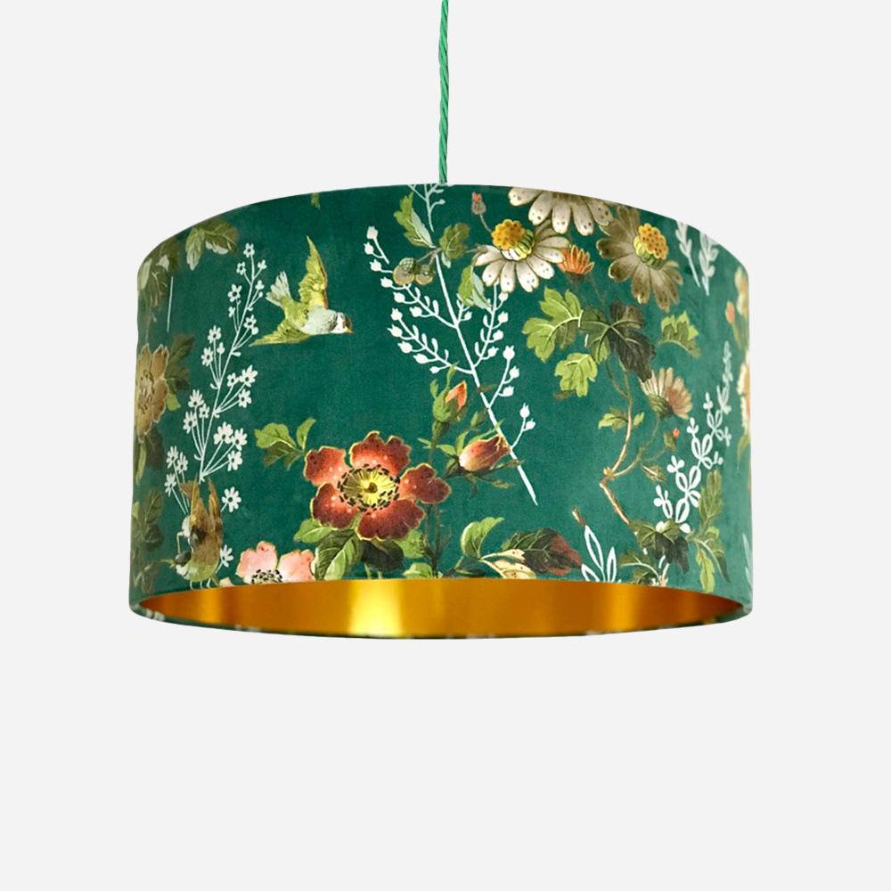 PVC fabric light cover with customized patterns printing table lampshades