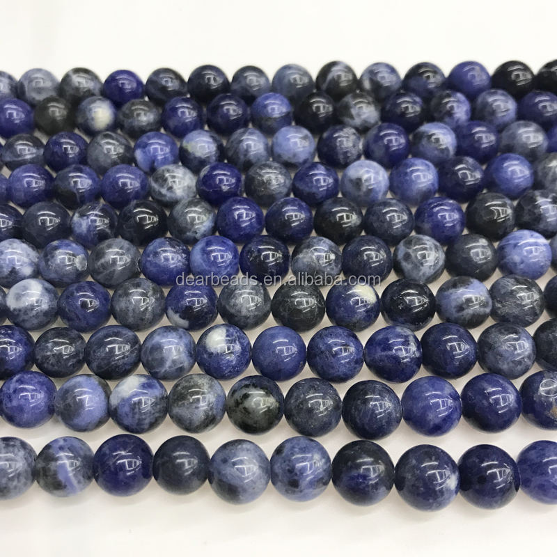 DearBeads Lucido/Opaco Pietra Naturale <span class=keywords><strong>Sodalite</strong></span> Healing Beads, <span class=keywords><strong>sodalite</strong></span> Perline per Monili Che Fanno 4 millimetri 6 millimetri 8 millimetri 10mm 12mm