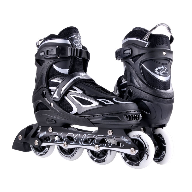 Amazon best seller hot selling adjustable 4 flashing PU wheels roller inline skates shoes for kids adults