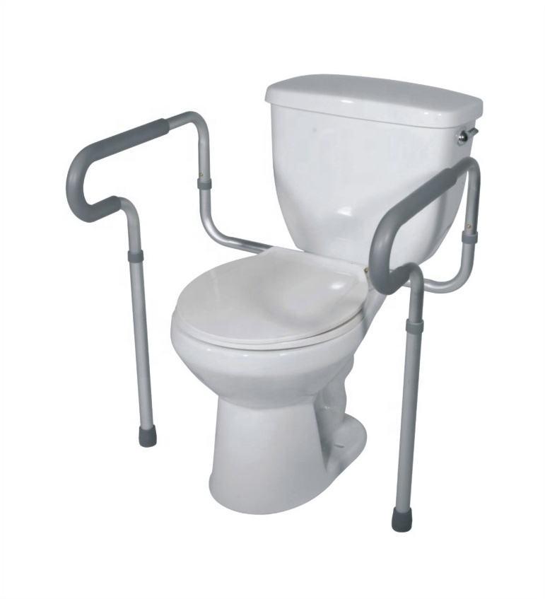 HDPE easy lock CE patient Toilet seat commode safety arm rest Frame for the elderly