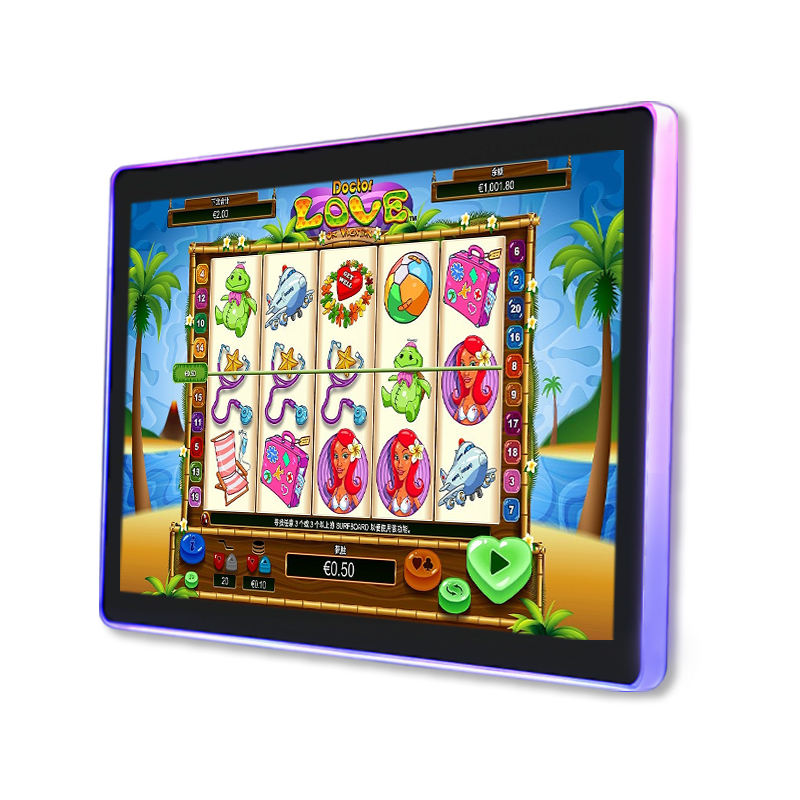 Game Hall Entertainment Apparatuur Slot Machine Interactieve Touch Screen Met Lichtgevende Rand Cirkel