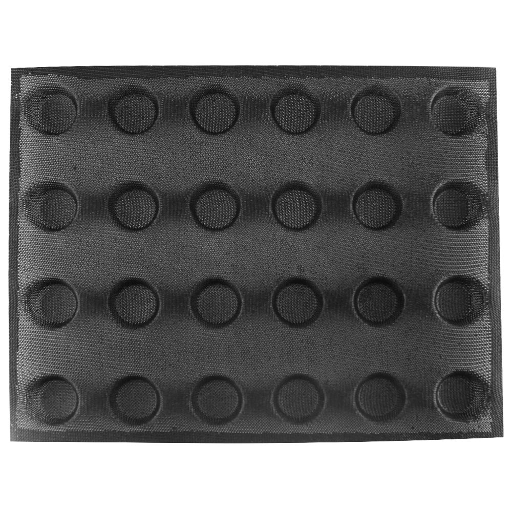 カスタムRound Shapeミニケーキ24 Cups Fiberglass Silicone Perforated Bread Mold