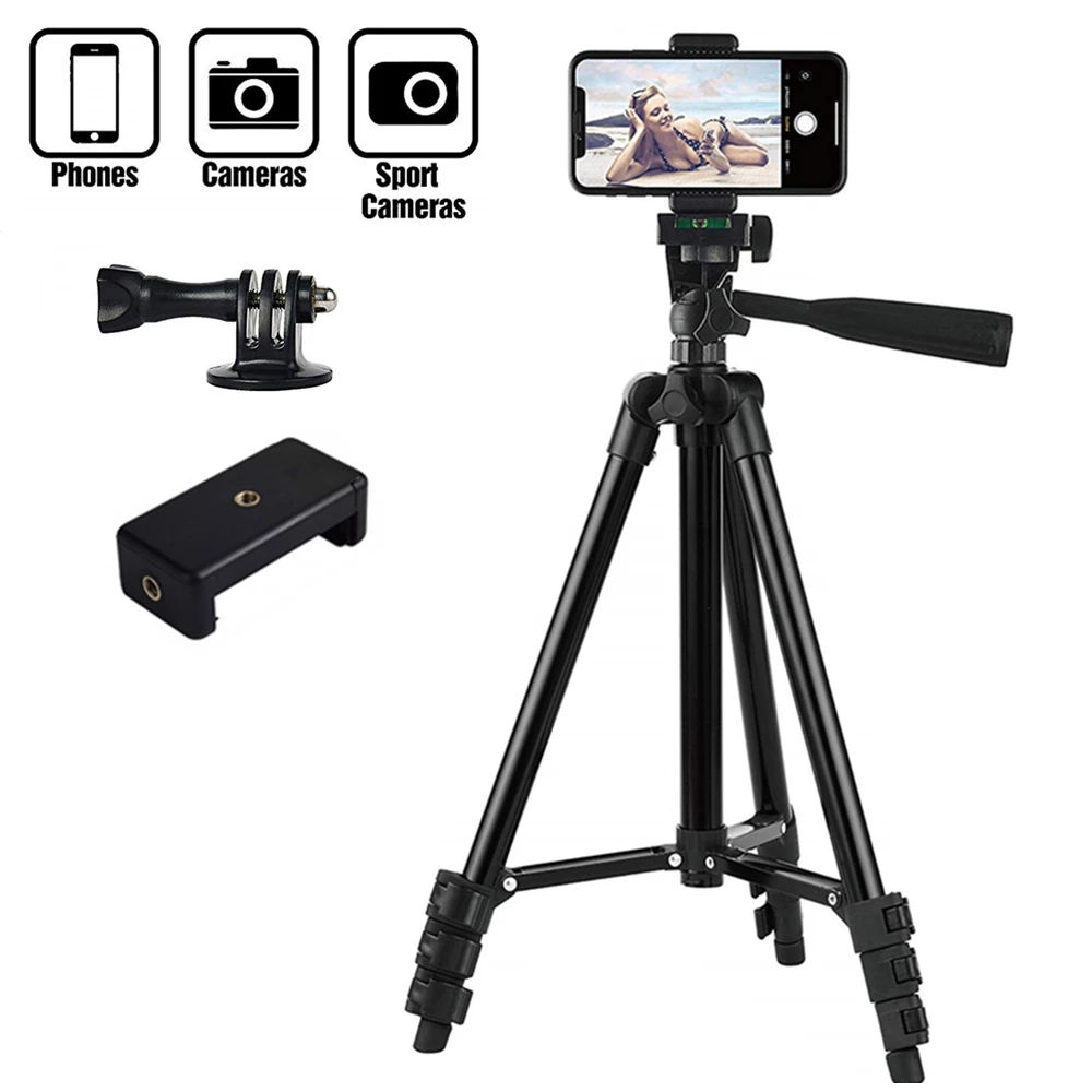 CPYP 3110 3120 Digital Camera Tripod 0.5m 1.2m 1.6m 2.1m Selfie Light Phone Ring Light Tripodと1/4 Screw Stand 160CM TRIPOD