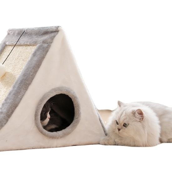 Cat dog pet plush large room simple tree hole house wholesale dog accessories pet cage