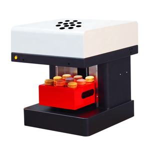 Highly update 4 cups coffee printer can print on macaron,cake etc coffee machine printer do food printing