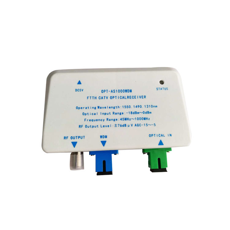 Network TV internet Optica Con FTTH GPON EPON Wdm 1310 1490 1550nm Mini Optical Node