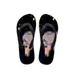 Stable Quality Cartoon Unicorn Printed Flip Flops Beach Cust