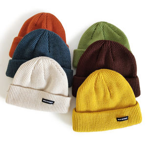 Wholesale custom design slouchy knitted hat beanies sport