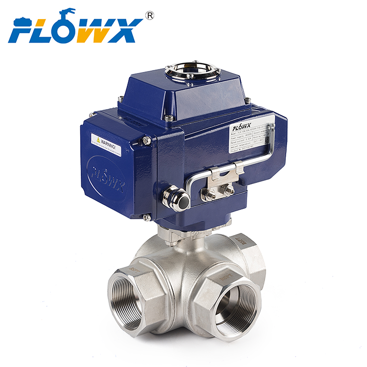 L T Port Manual Hand Lever 304 316 Stainless Steel 1000WOG G Bspt Femalethreaded 3 WAY Thread Ball Valve