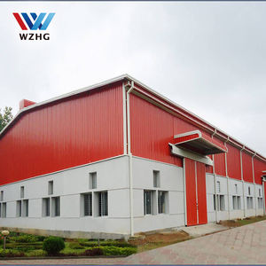 Low price Metal building construction design large span single two story steel structure warehouse building
