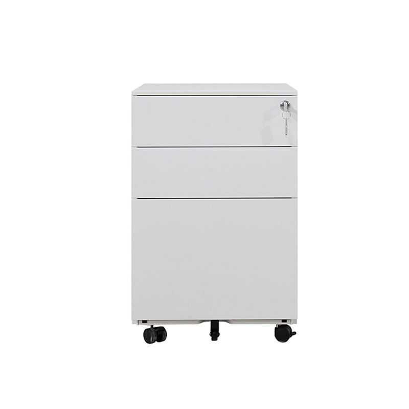 Office equipment 3 drawer file cabinet kd steel mobile cabinet