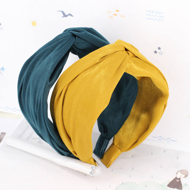 Headbands For Women 2019 Korean style Fashion Hair Accessories Fabric Tie Knot Headband For Girls Wholesale