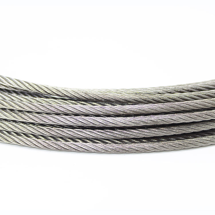 316 Ss Wire Rope Stainless Steel Wire Strand SS316 Stainless Steel Rope