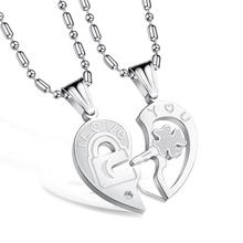 Couple Gift Stainless Steel Chain Custom Engraved Necklace Sets For Wedding Jewelry