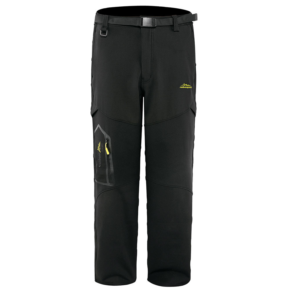 Mens Outdoor Snow Ski Fishing Fleece Lined Insulated Soft Shell Winter Pants
