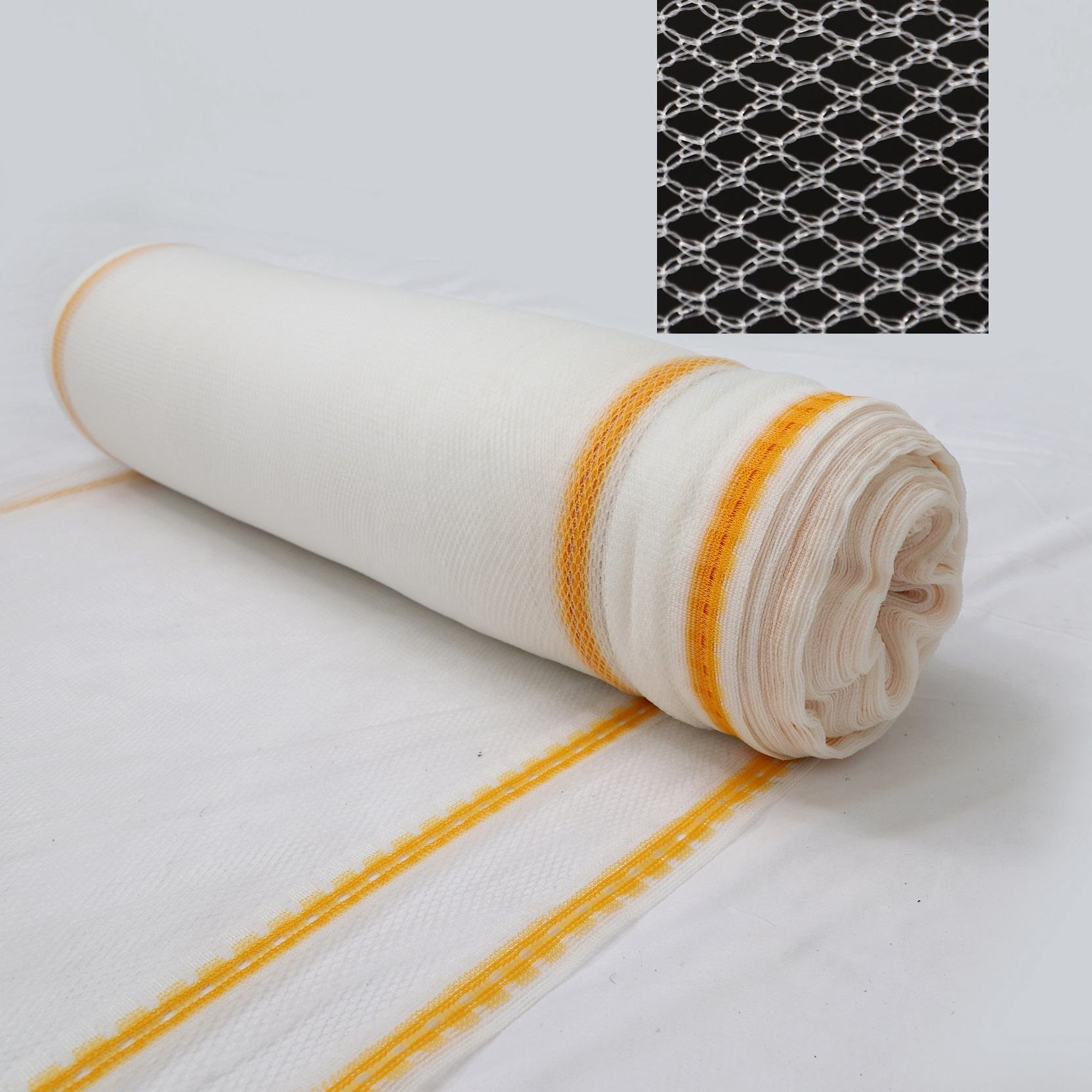 New knitting method yellow anti hail net mesh diamond