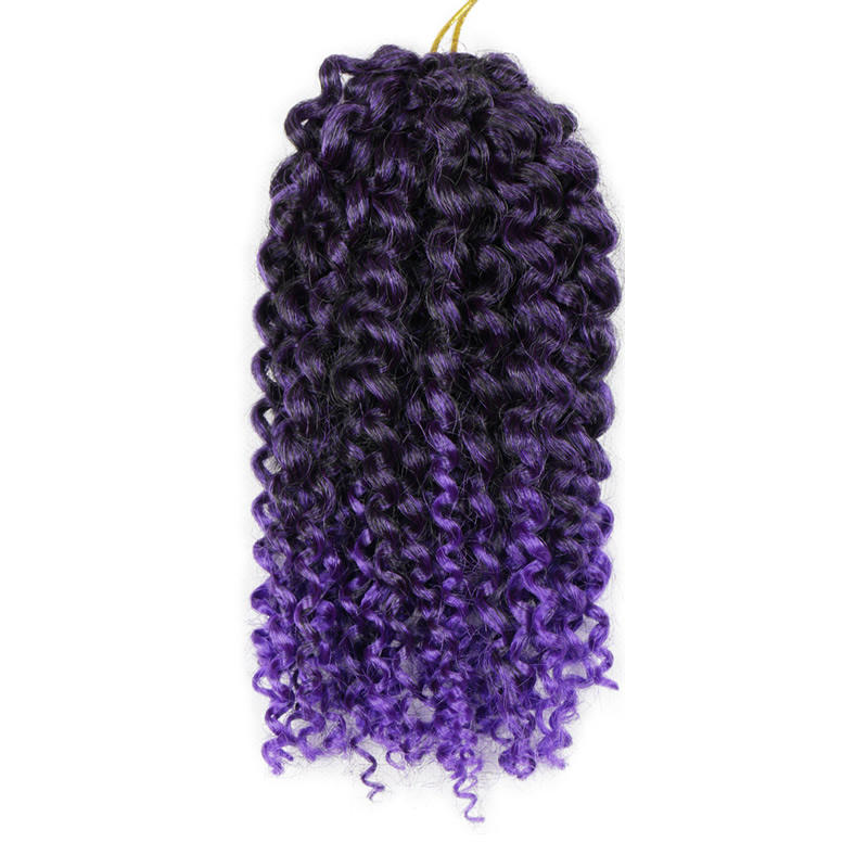 2021 Hot Selling Afro Kinky Curly Twist Ombre Color Marlybob Synthetic Weave Crochet Braiding Hair Extension