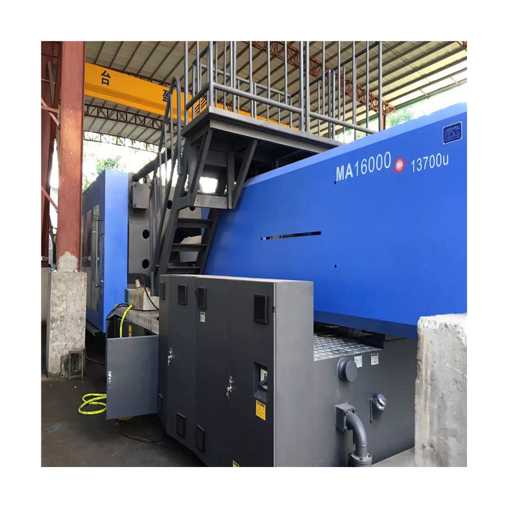 Haitian 1600 ton large plastic injection moulding machine/ servo motor used machine MA-16000/ 2013 year almost new
