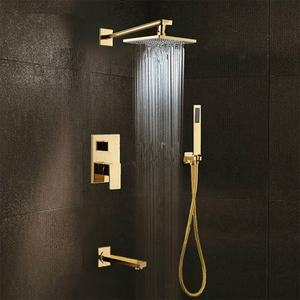 Bathroom European Shower Faucet Concealed 4 Way Shower Mixer Luxurious Wall Mount Ceiling Shower Set