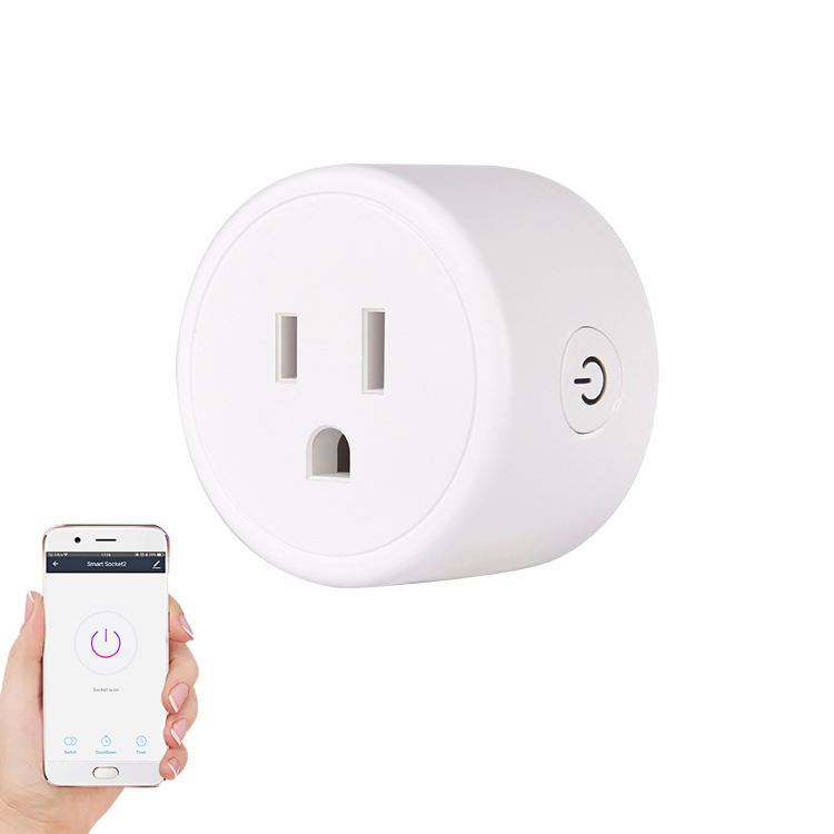 Work with Alexa & Google Assistant WIFI Plug Socket, No Hub Required Tuya Remote Control Smart Plug WIFI