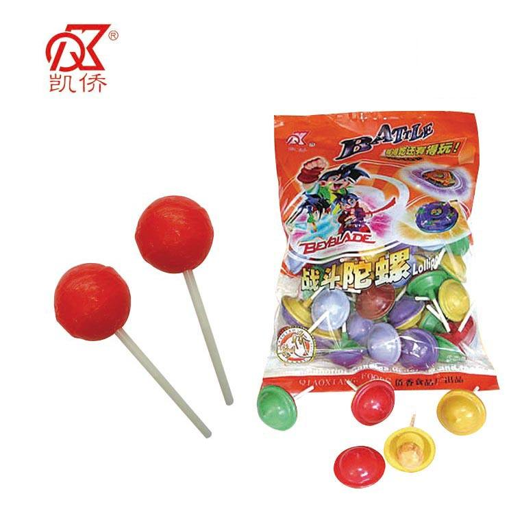 5g Colorful Rotating Top Fruit Lollipop Toys