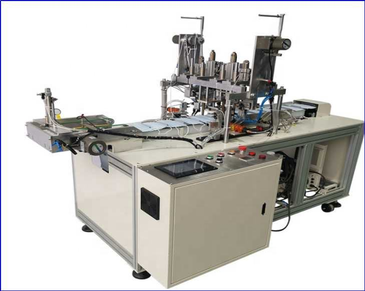Automatic Medical Mask Machine 3ply nonwoven Disposable Face Mask Making Machine