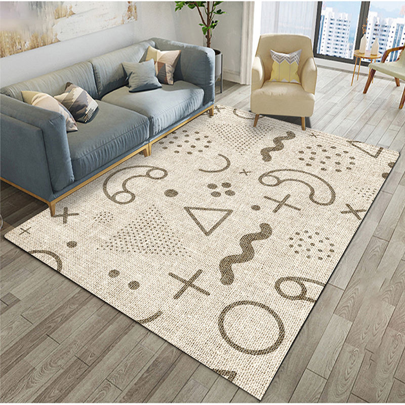 Nordic Manufacturer 3D Carpets Living Room Rug Anti Slip Backing Carpet Luxury Living Room