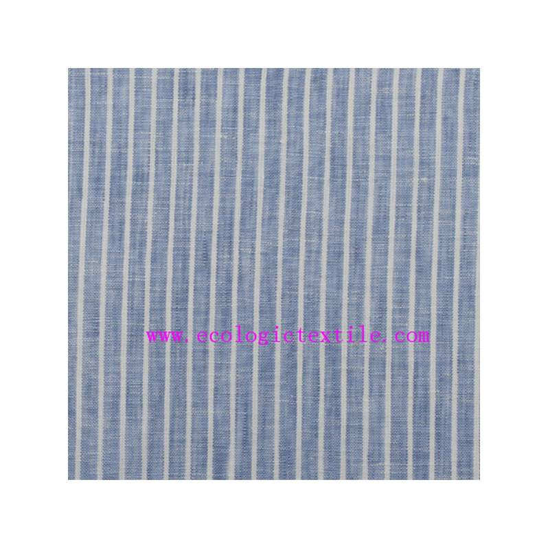 new product Y/D stripe design 100 linen fabric for shirt