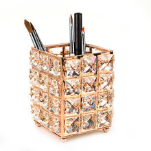 Gold Color Luxury Nail Art Brush Holder Set Pen Displayer Stand Tools