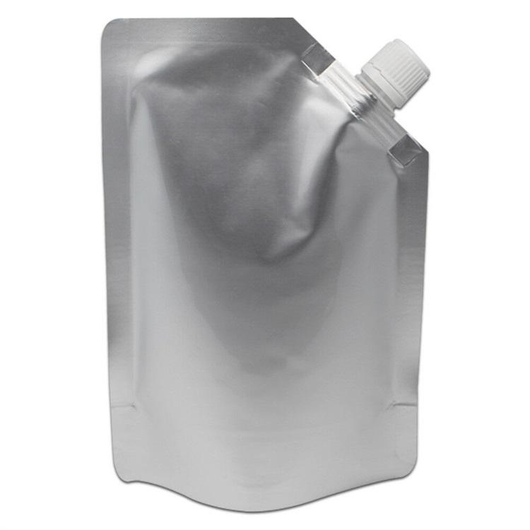 Custom corner spout aluminum foil stand up spout pouch for tomato sauce/ ketchup/mayonnaise/Jam/ milk /liquid packaging