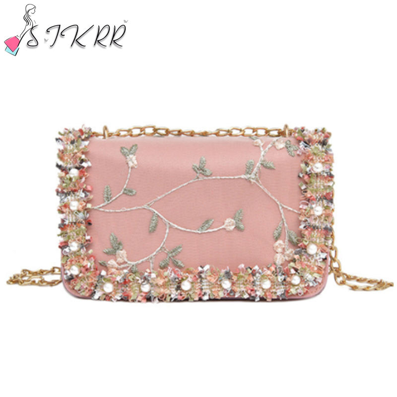 2021 Fashionable Women Hand Bags and Purses Luxury Designer bag with Flower Decoration Mini Shoulder Chain Bag for Ladies