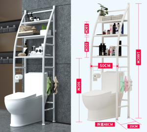 3 Layer bathroom storage shelf Over Toilet Rack Expandable Shelf Toilet Storage Rack Bathroom Over Toilet Storage Rack