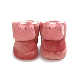 Autumn and winter warm baby shoes 0-1 year old soft-soled co