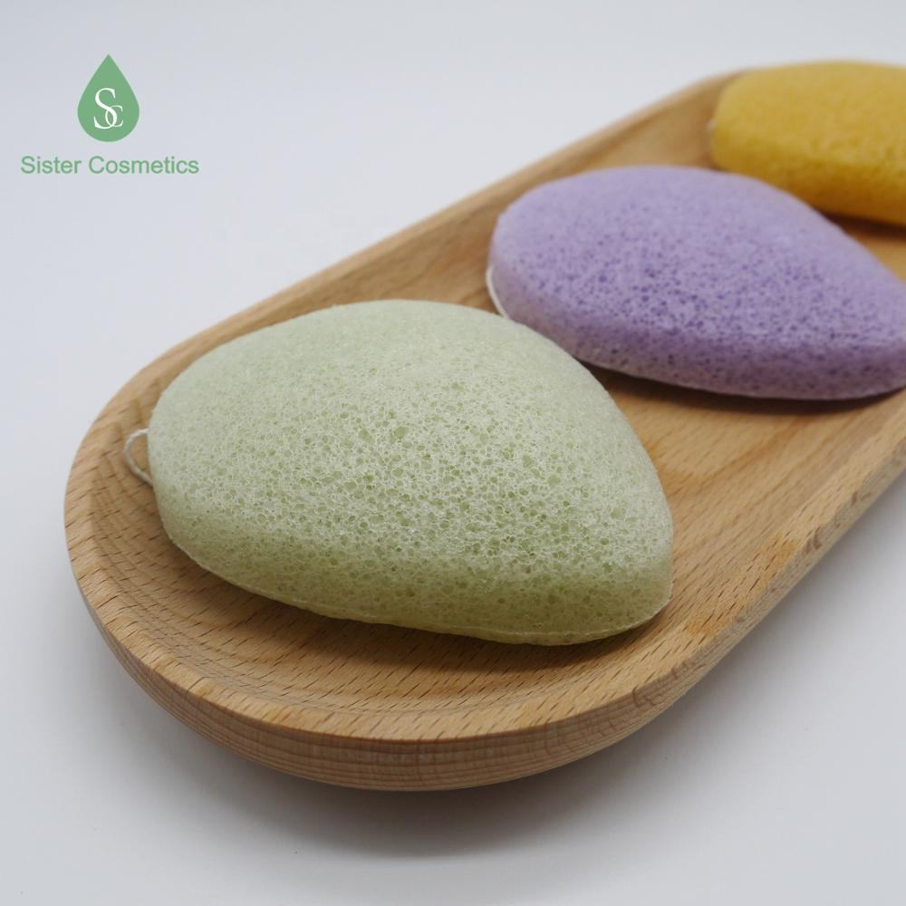 Amazon Best Seller High Quality Organic Waterdrop Konjac Sponge With Packaging