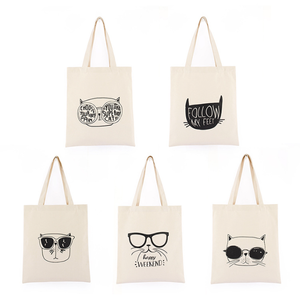 Reusable Eco Friendly Canvas Cotton Tote Bags With Custom Printed Logo Linen Tote Bag