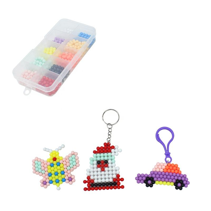 Children DIY Toys Children's Sensory Toys Fuse Bead Set for Children Puzzle Beads Beginners Playing 1100 Pieces Beads for Kids