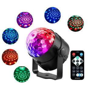 Sound Activated Roterende Disco Ball Party Verlichting Strobe Light 3W Rgb Led Podium Verlichting Voor Kerst Thuis Ktv Xmas bruiloft Tonen