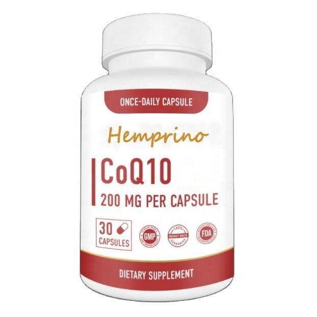 Private Label Dietary Supplement High Absorption 800MG CoQ10 Capsules Softgels with BioPerine 200mg For Immune System