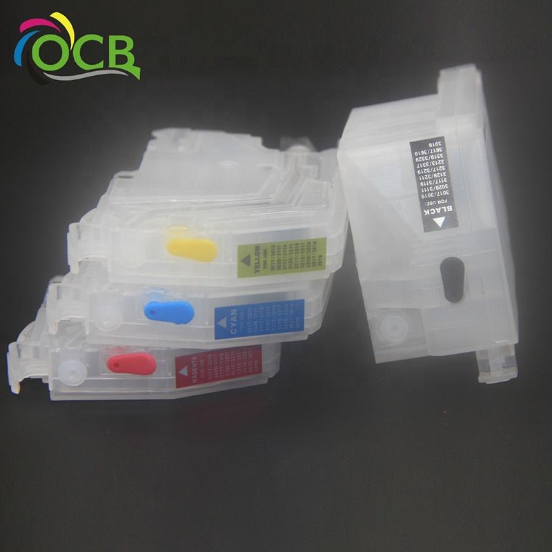 OCBESTJET For Brother LC 3017 3019 Small Refillable Ink Cartridge For Brother LC 3919 3029 3017 3019 3217 3219 3317 3319 3329