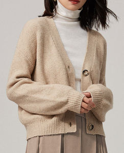 Naivee winter woolen high quality retro women knitted sweaters cardigan