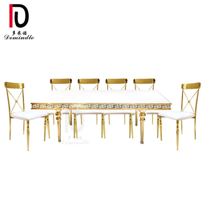 new rectangular wedding reception gold frame mdf wedding table