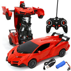 1:16 LED rc Deformation Robot remote control car Transformation robot car toys for child