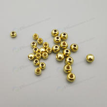 full sizes in stock brass slotted brass beads ,   copper beads