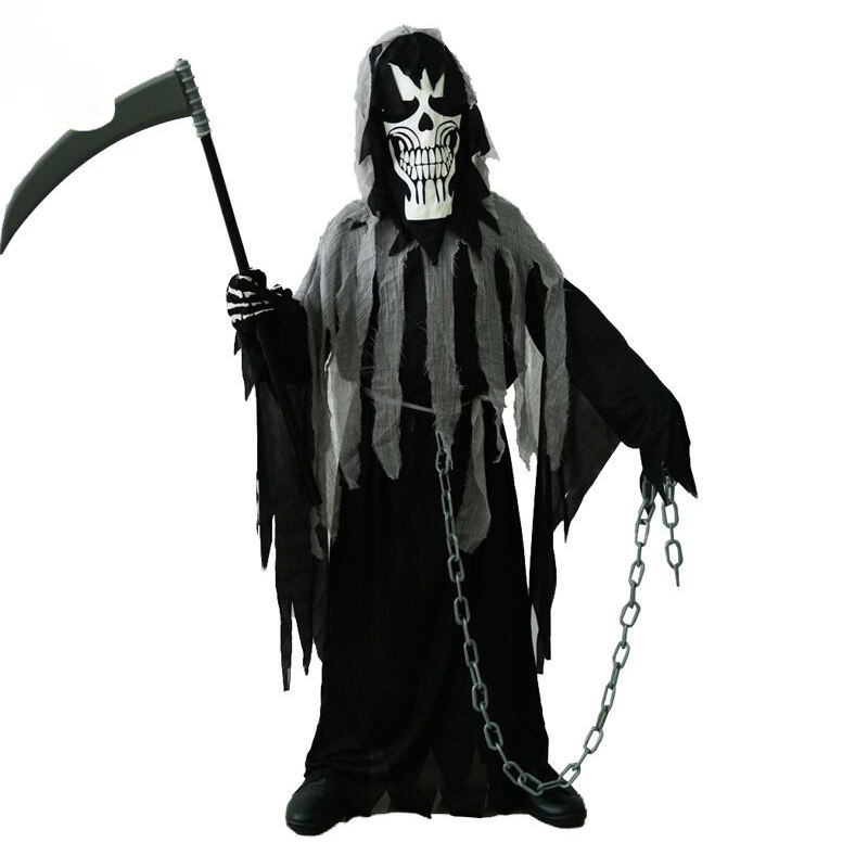 Halloween Carnival Party Cosplay Ghost Horror Death Devil Ghost Costumes For Boys